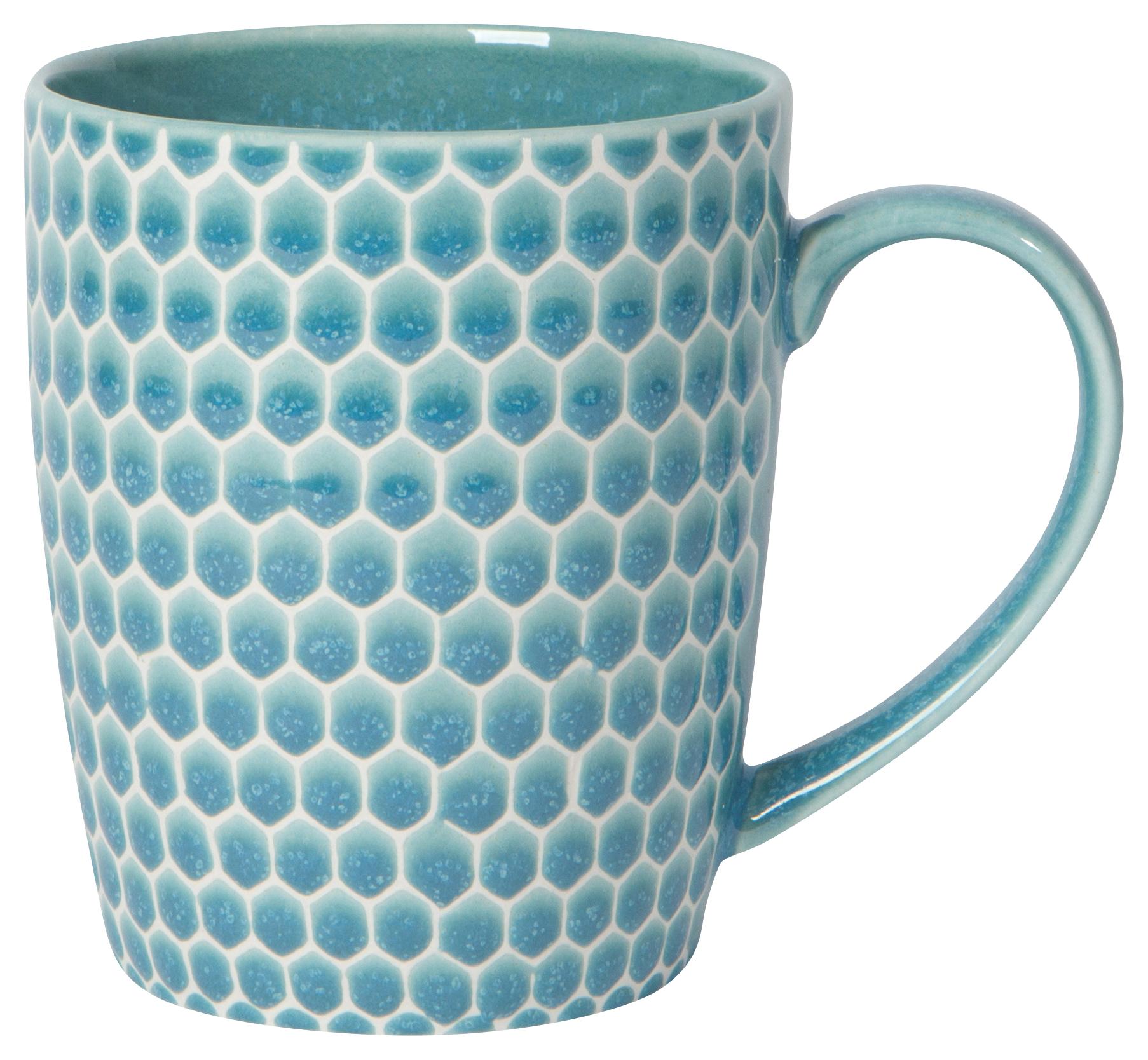 Honeycomb Mug Turquoise