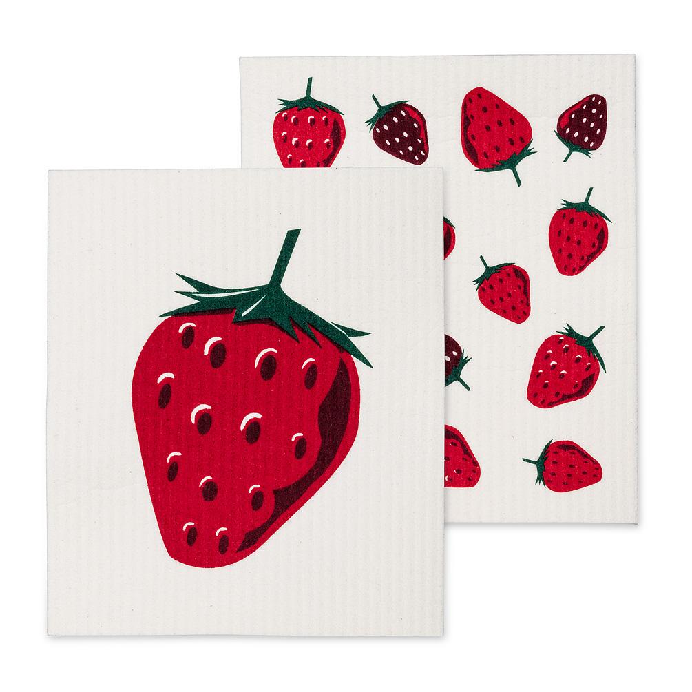 Swedish Dishcloth Set/2 - Strawberries