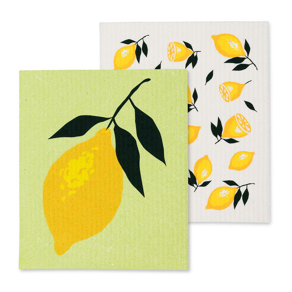 Swedish Dishcloth Set/2 - Lemons