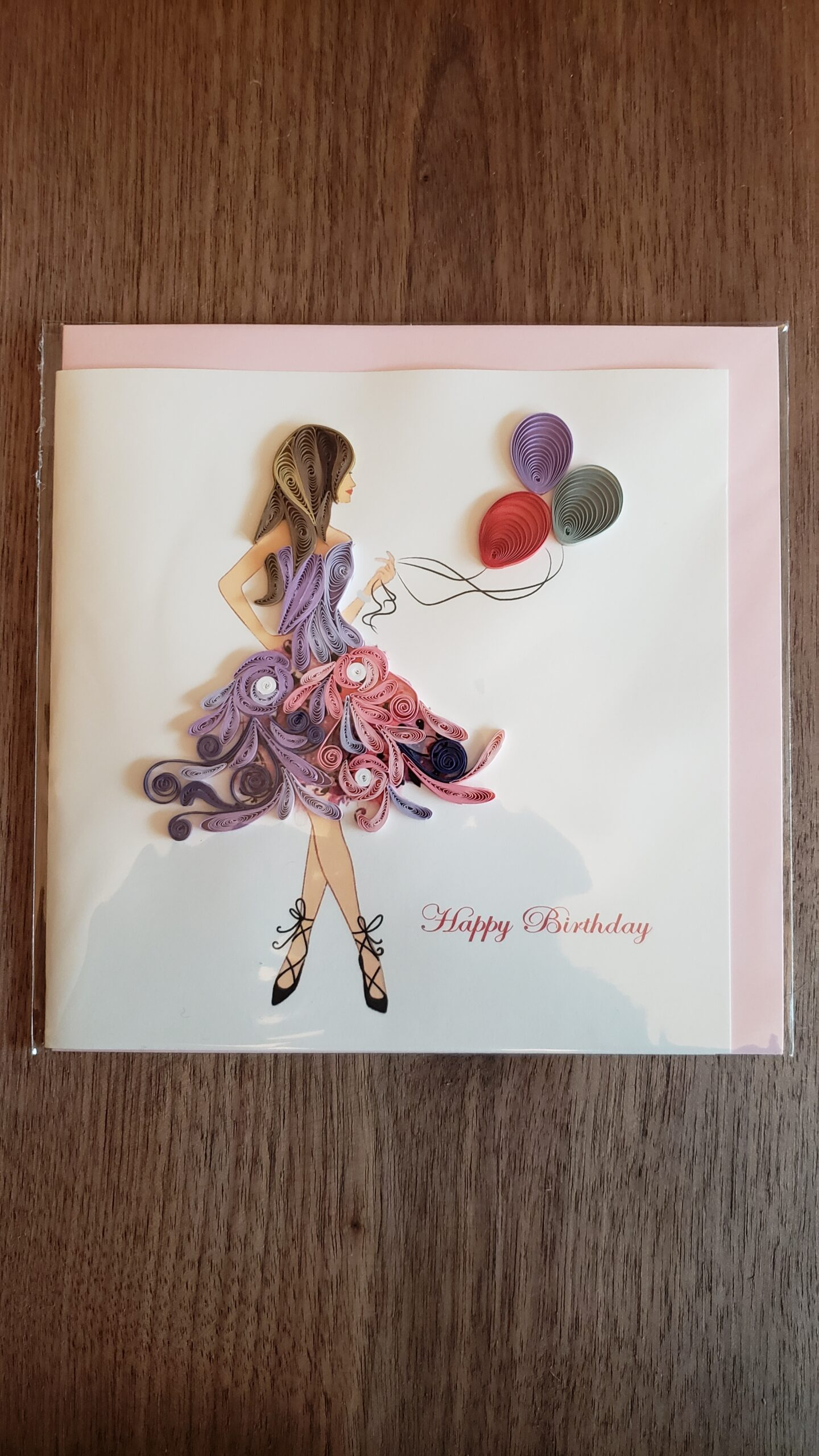 Birthday Girl Card 6 in. x 6 in.