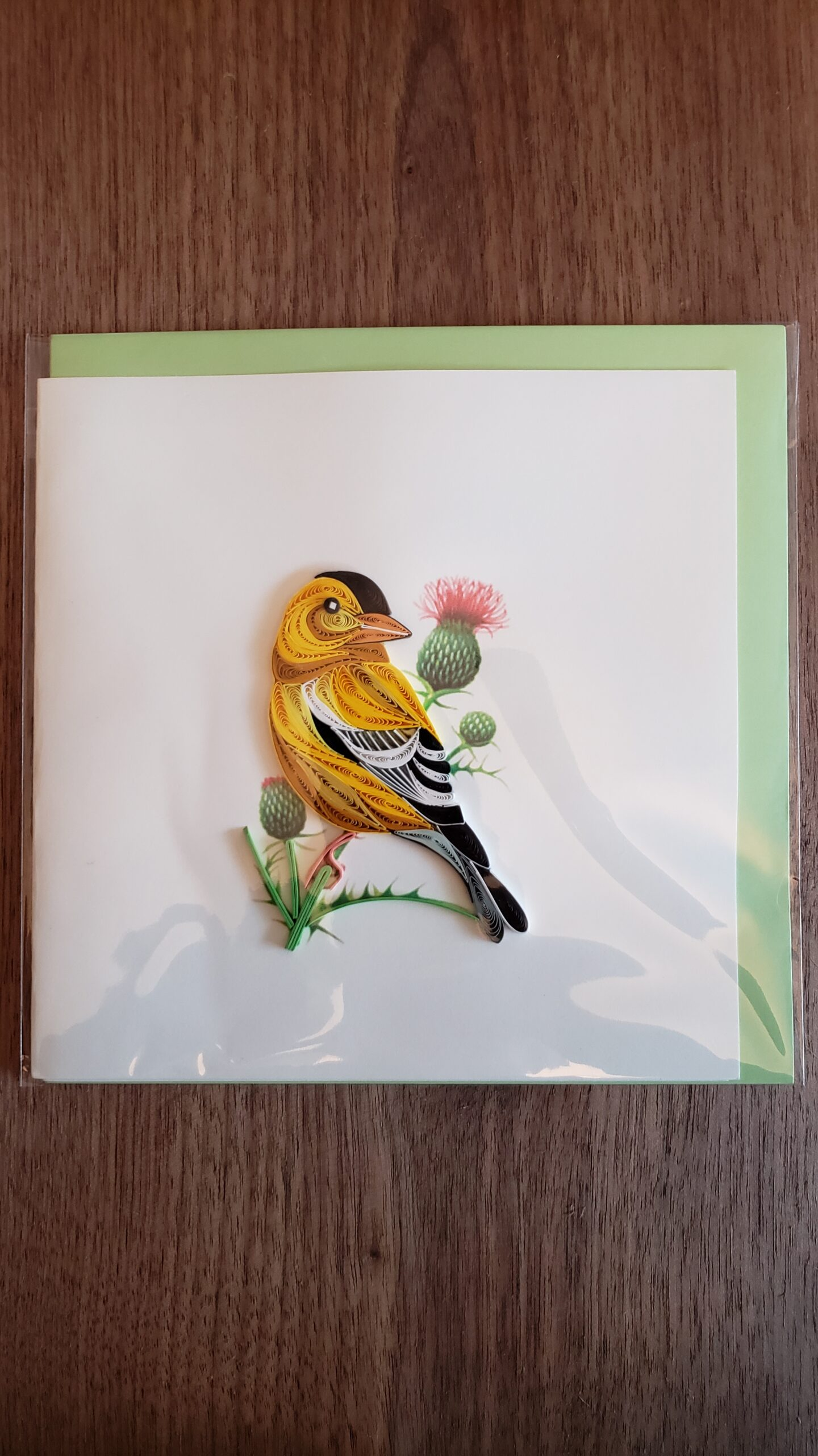 Eastern Goldfinch Card 6 in. x 6 in.