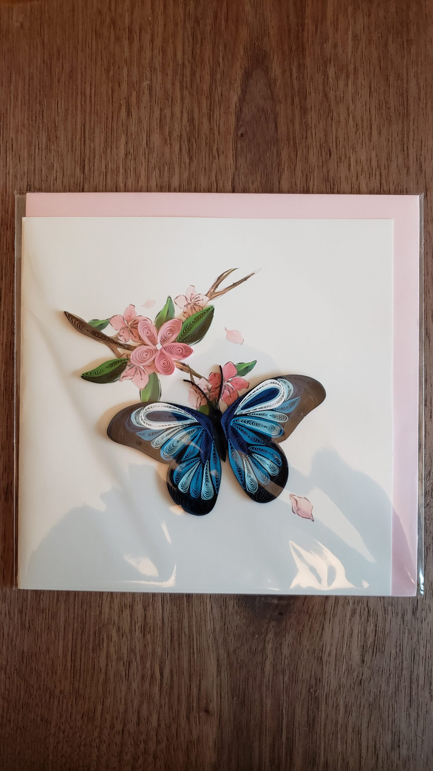 Blue Butterfly Card 6 in. x 6 in.