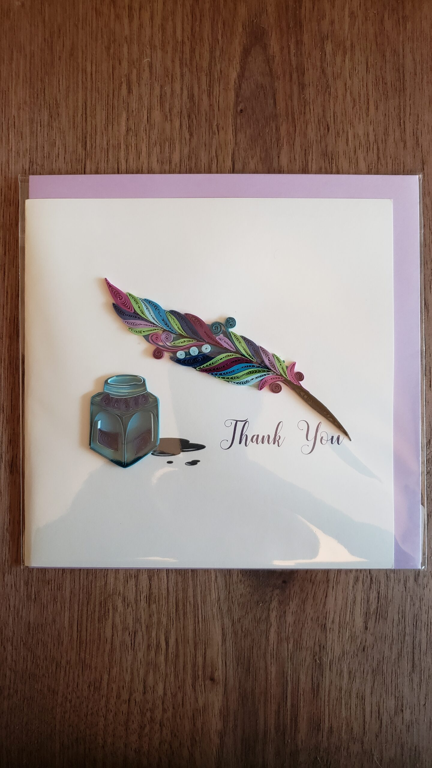 Quill & Ink Thank You Card 6 in. x 6 in.