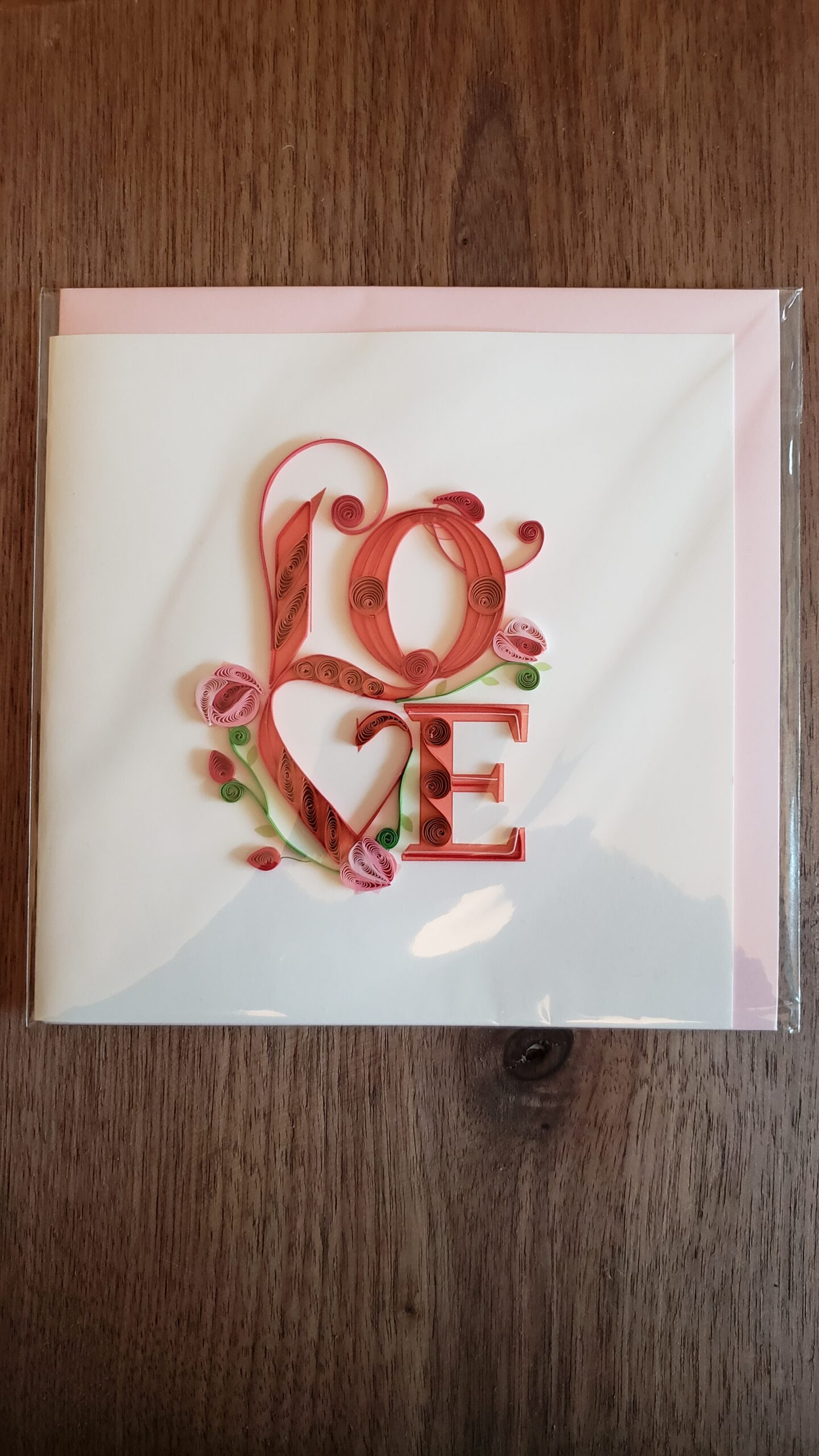 Love Greeting Card 6 in. x 6 in.