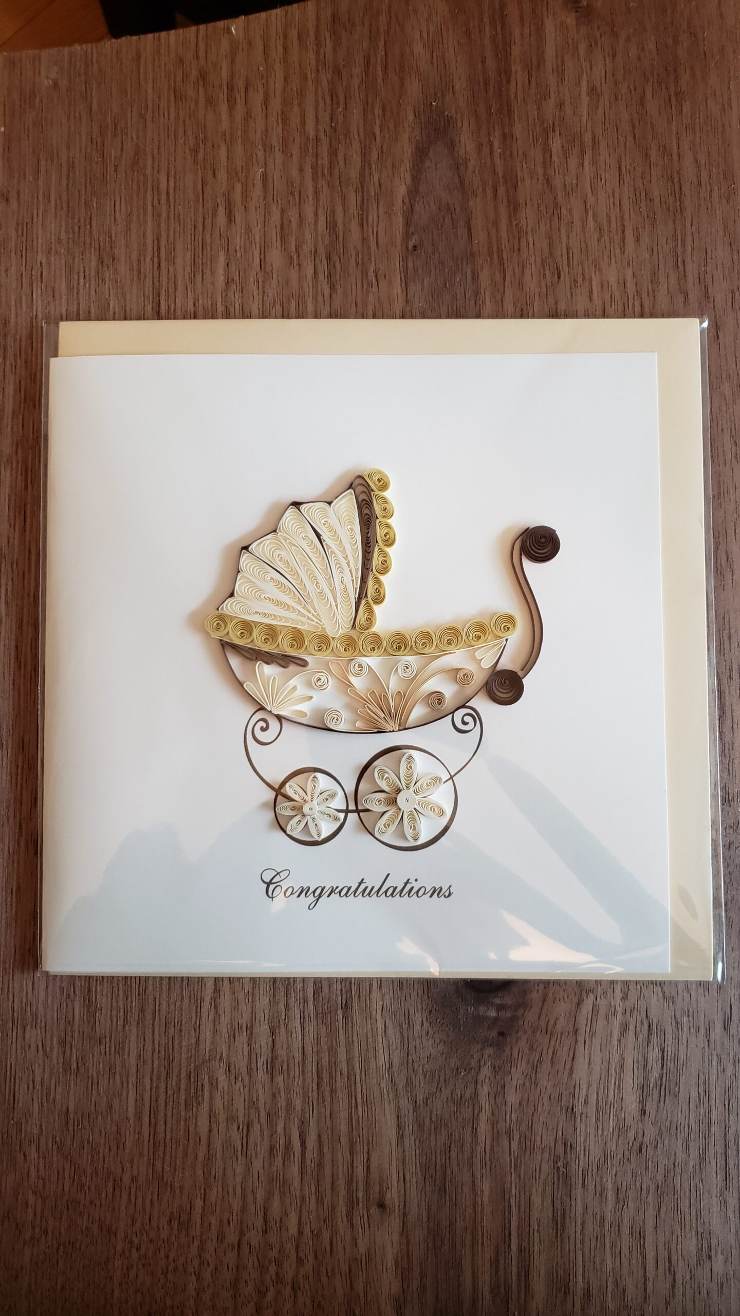Baby Carriage Card 6 in. x 6 in.