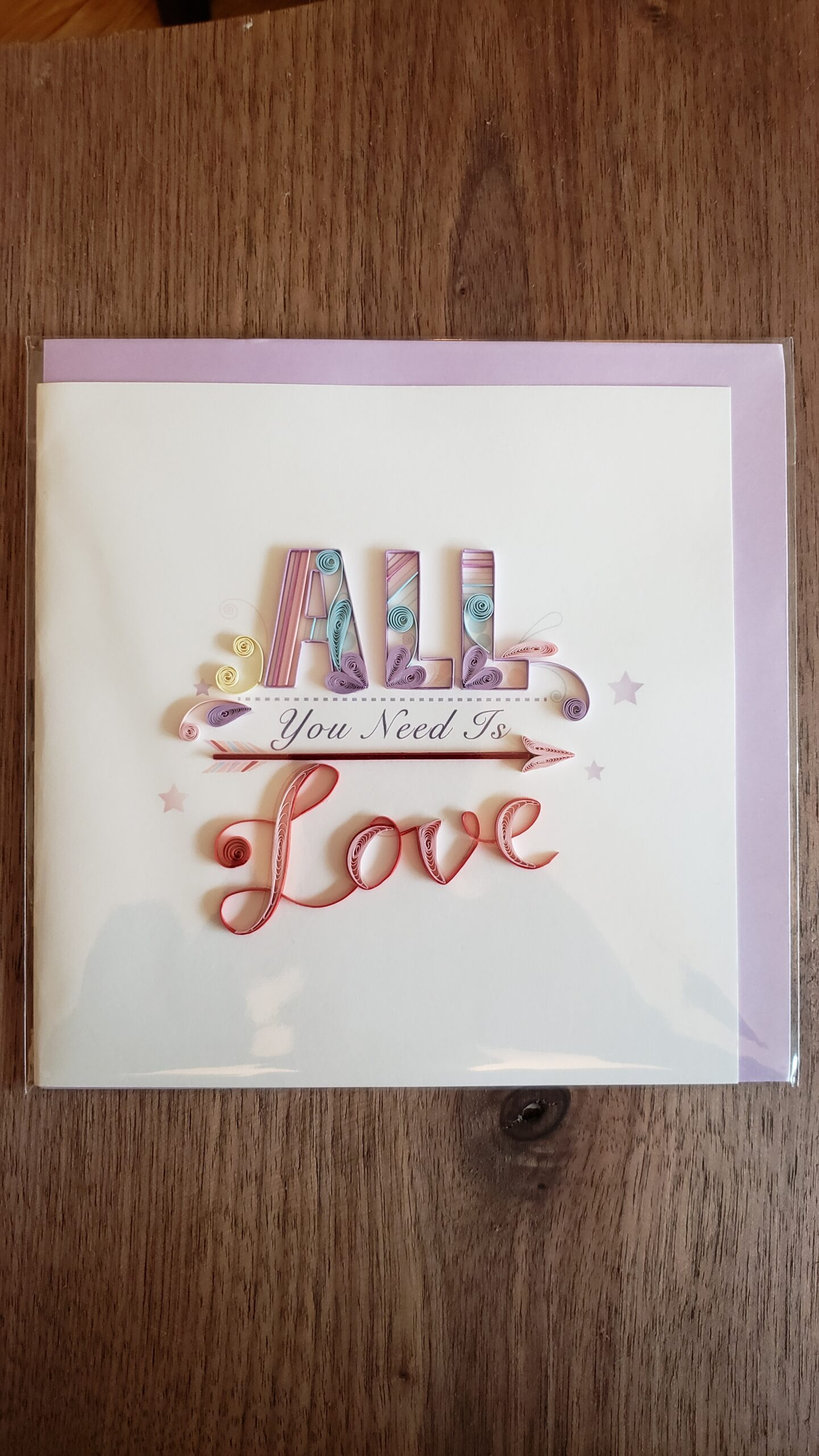 All You Need is Love Card 6 in. x 6 in.