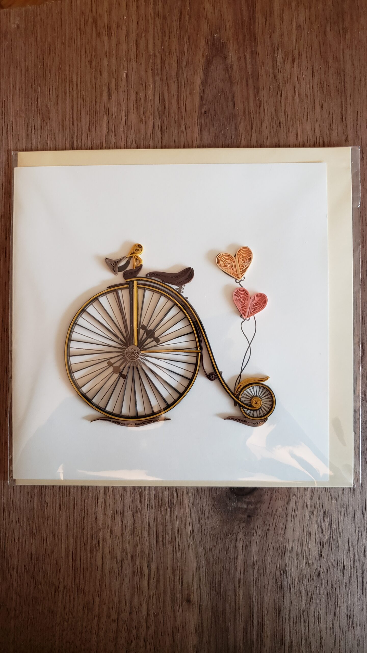 Vintage Bicycle Card 6 in. x 6 in.