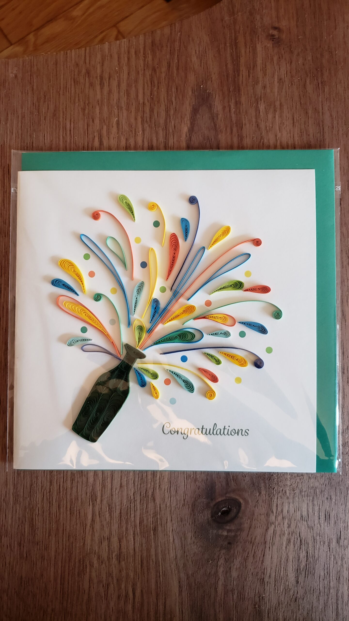 Celebration Congrats Card 6 in. x 6 in.