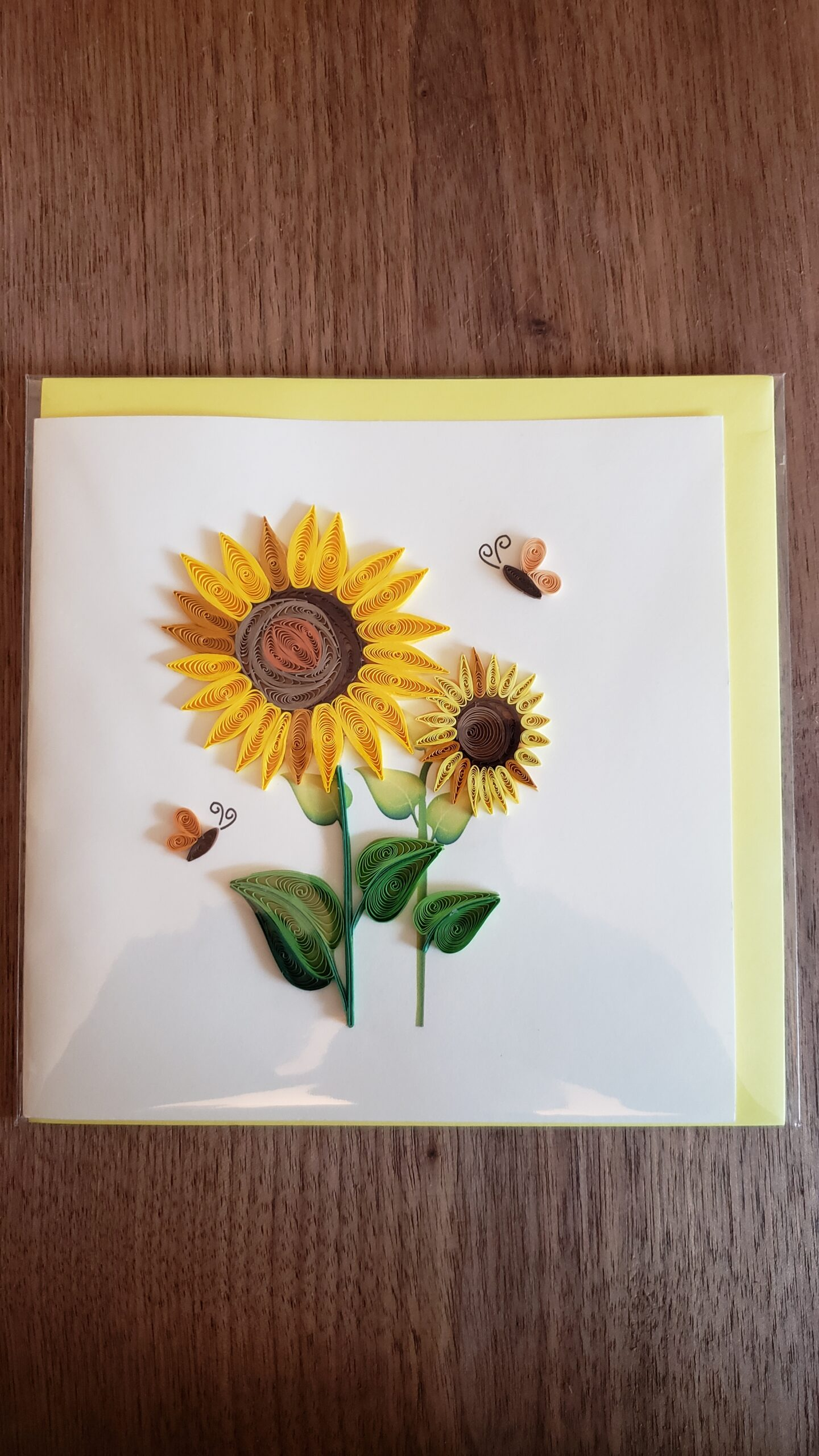 Sunflower Card 6 in. x 6 in.