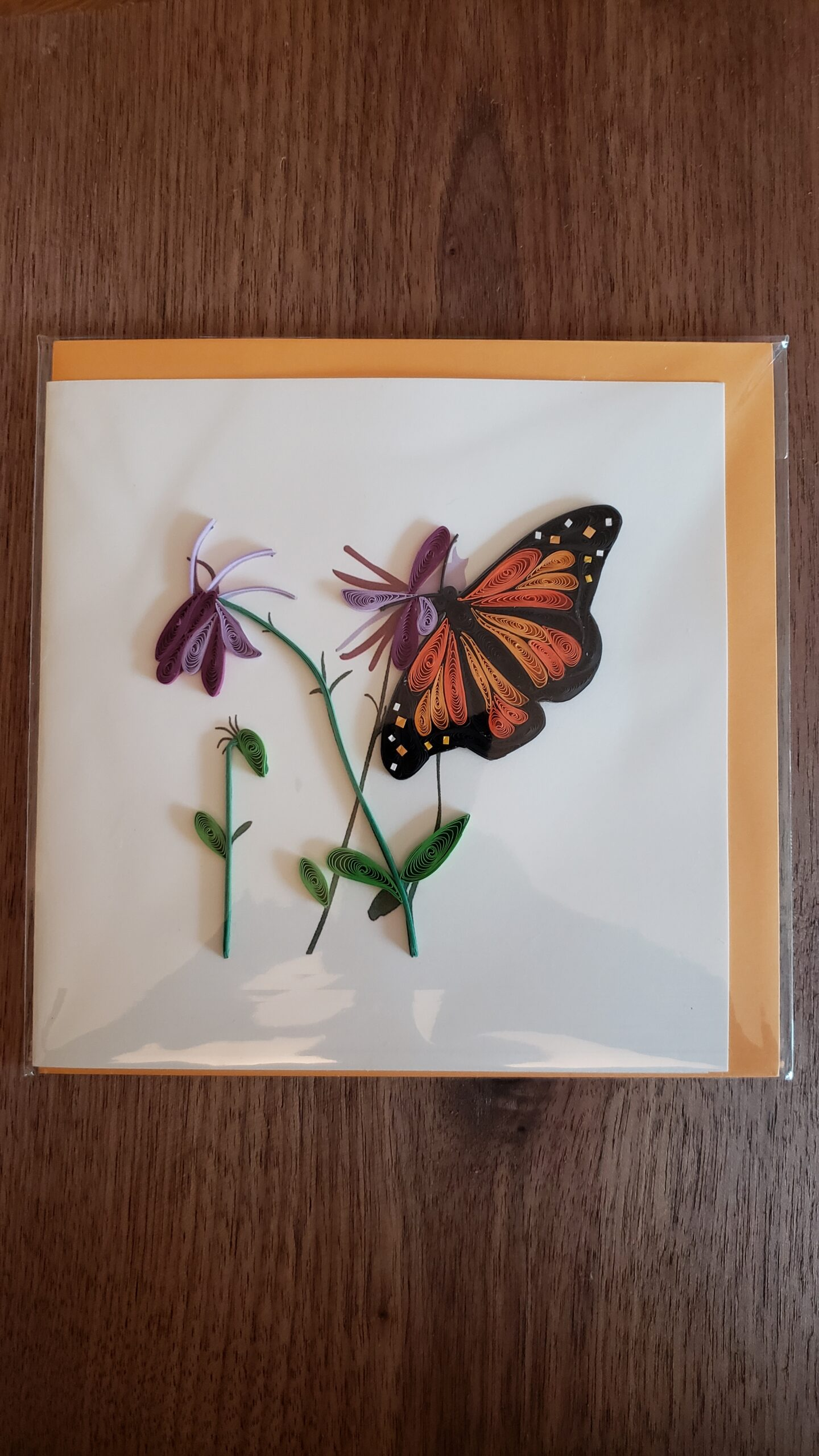 Monarch Butterfly Card 6 in. x 6 in.