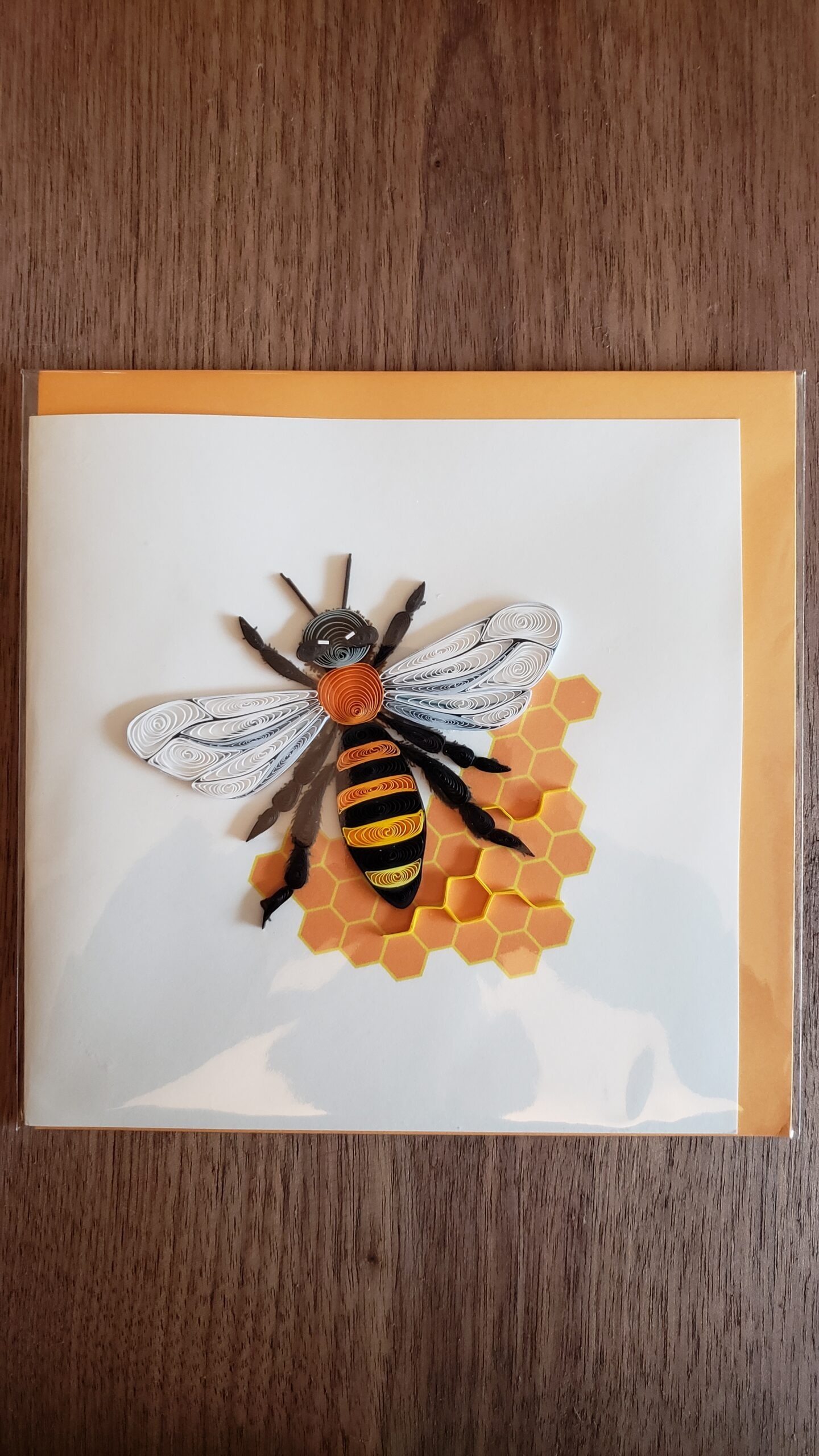Honey Bee Greeting Card 6 in. x 6 in.