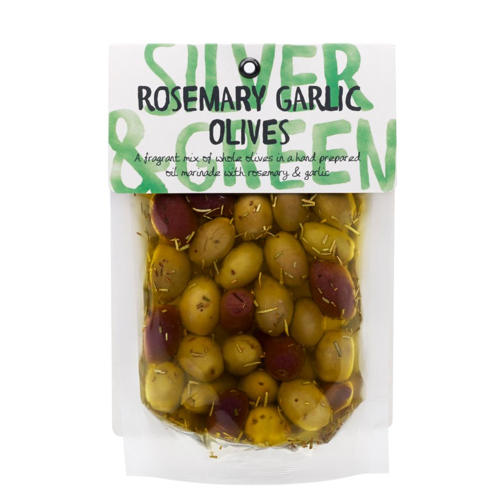 Silver & Green Rosemary Garlic Mixed Olives